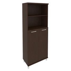Шкаф для документов в офис высокий широкий (2 средние двери ЛДСП) KST-1.6 800*430*2060 Венге