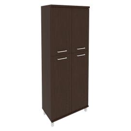 Шкаф для документов в офис высокий широкий (2 средние двери ЛДСП, 2 низкие двери ЛДСП) KST-1.8 800*430*2060 Венге
