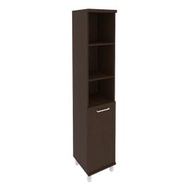Шкаф для документов в офис высокий узкий левый/правый (1 низкая дверь ЛДСП) KSU-1.1 400*430*2060
