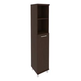 Шкаф для документов в офис высокий узкий левый/правый (1 средняя дверь ЛДСП) KSU-1.6 401*432*2060 Венге