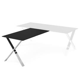 ANCONA Бриф-приставка к столу ЧЕРНЫЙ/ХРОМ (107 301 f.black0720)