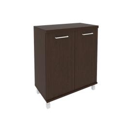 Шкаф для документов в офис низкий широкий (2 низкие двери ЛДСП) KST-3.1 800*430*960 Венге
