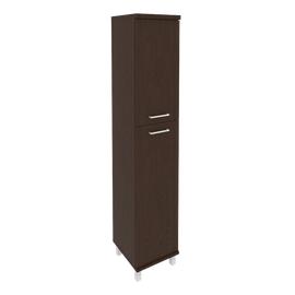 Шкаф для документов в офис высокий узкий левый/правый (1 средняя дверь ЛДСП, 1 низкая дверь ЛДСП) KSU-1.8 400*430*2060