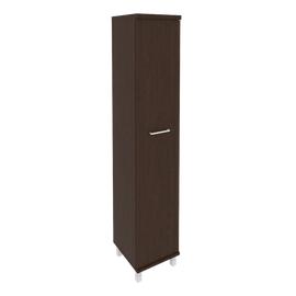 Шкаф для документов в офис высокий узкий левый/правый (1 высокая дверь ЛДСП) KSU-1.9 400*430*2060 Венге