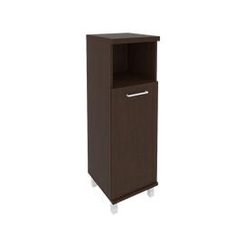 Шкаф для документов в офис средний узкий левый/правый (1 низкая дверь ЛДСП) KSU-2.1 400*430*1260 Венге