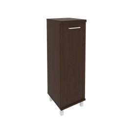 Шкаф для документов в офис средний узкий левый/правый (1 средняя дверь ЛДСП) KSU-2.3 400*430*1260 Венге
