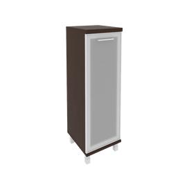 Шкаф для документов в офис средний узкий левый/правый (1 средняя дверь стекло в раме) KSU-2.4R 400*430*1260