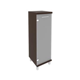 Шкаф для документов в офис средний узкий левый/правый (1 средняя дверь стекло) KSU-2.4 400*430*1260 Венге