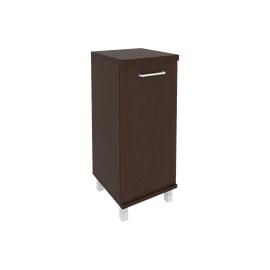 Шкаф для документов в офис низкий узкий левый/правый (1 низкая дверь ЛДСП) KSU-3.1 400*430*960 Венге