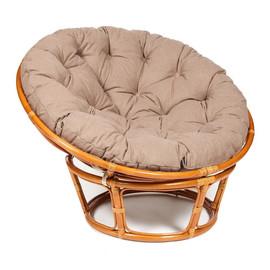 """Кресло """"PAPASAN"""" 23/01 W /с подушкой/ Cognac (коньяк), экошерсть Коричневый, 1811-5  TetChair"""