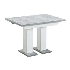 Стол Clyde 110-166*75 бетон/белый Stool Group