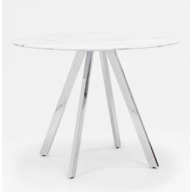 Стол Хьюстон D100 белый стеклянный Stool Group