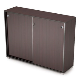 Шкаф-купе для документов в офис средний длинный  AVANCE 6ШКЗ.019 1637х400х1205 Венге (с замком) [CLONE]