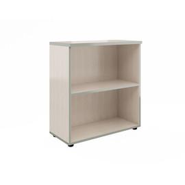 Стеллаж для документов в офис широкий низкий Bella Vita для кабинета руководителя арт. BV-2.0 777х387х830 Сосна Карелия