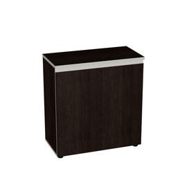 Шкаф для документов в офис широкий низкий закрытый Bella Vita для кабинета руководителя арт. BV-2.0.1 777х387х830 Тёмная Сосна Ларедо