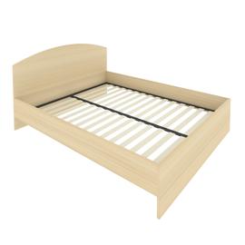 Кровать с ортопедическим основанием и изголовьем С-КИ-160 Акация 1650*2050*900