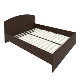 Кровать с ортопедическим основанием и изголовьем С-КИ-160 Венге 1650*2050*900