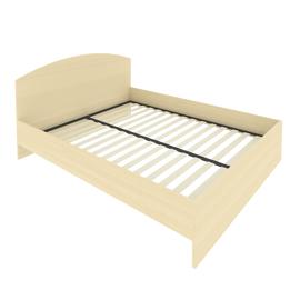 Кровать с ортопедическим основанием и изголовьем С-КИ-160 Клён 1650*2050*900