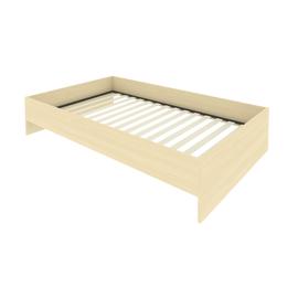 Кровать с ортопедическим основанием без изголовья С-К-120 Клён 1250*2050*400