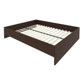 Кровать с ортопедическим основанием без изголовья С-К-160 Венге 1650*2050*400