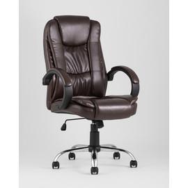 Компьютерное кресло для руководителя TopChairs Atlant коричневое Stool Group