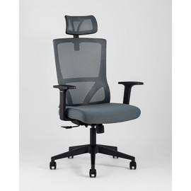 Кресло руководителя TopChairs Local серое Stool Group