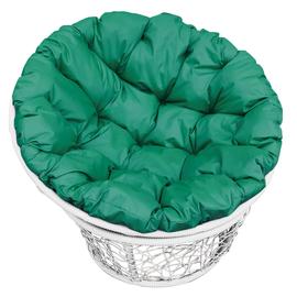 """Кресло """"Папаса"""" цвет: Белый; подушка: Зелёный"""
