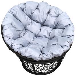 """Кресло """"Папаса"""" цвет: Чёрный; подушка: Серый"""