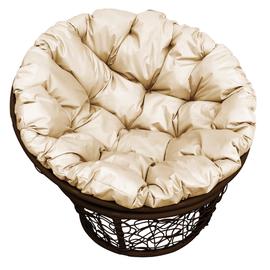 """Кресло """"Папаса"""" цвет: Коричневый; подушка: Бежевый"""