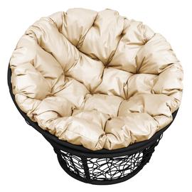 """Кресло """"Папаса"""" цвет: Чёрный; подушка: Бежевый"""