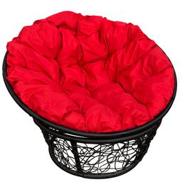 """Кресло """"Папаса"""" цвет: Чёрный; подушка: Красный"""