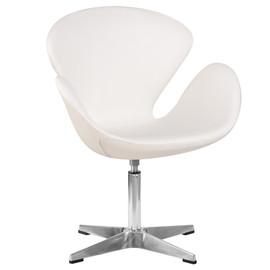 Дизайнерское кресло 69А Swan белое Dobrin