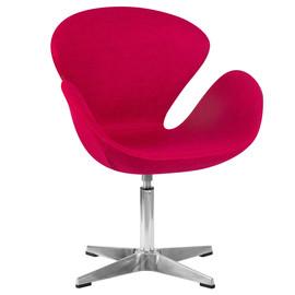 Дизайнерское кресло 69А Swan бордовое Dobrin