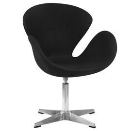 Дизайнерское кресло 69А Swan черное Dobrin