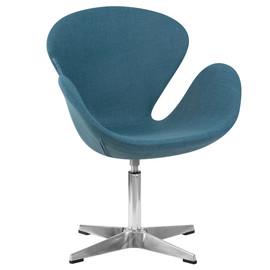Дизайнерское кресло 69А Swan синее DobrinДизайнерское кресло 69А Swan синее Dobrin
