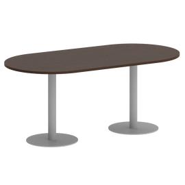 Стол овальный VR.SP-5-180.1  Венге/Серый
