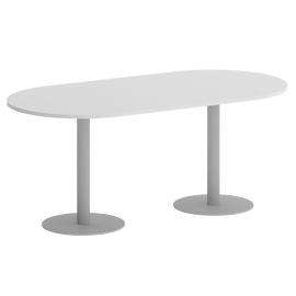Стол овальный VR.SP-5-180.1 Белый/Серый