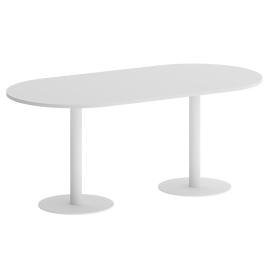 Стол овальный VR.SP-5-180.1 Белый/Белый
