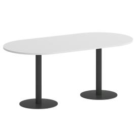 Стол овальный ONIX VR.SP-5-180.1 Белый бриллиант/Антрацит