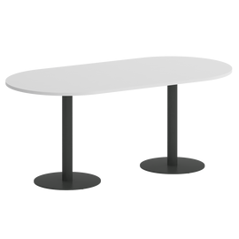 Стол овальный VR.SP-5-180.1 Белый/Антрацит