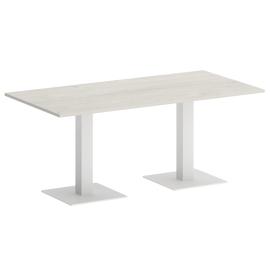 Стол прямоугольный VR.SP-5-180.2  Дуб Наварра/Белый