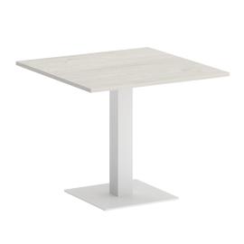 Стол квадратный  VR.SP-5-90.2 Дуб Наварра/Белый