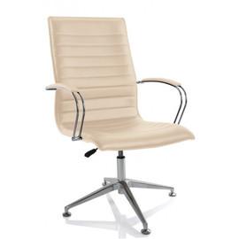 Офисное кресло для посетителей Aim Vi base (C2W) бежевый /хром с обивкой