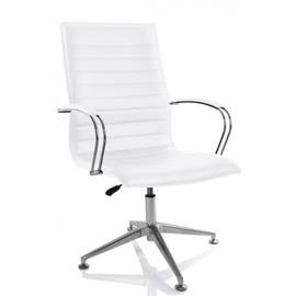 Офисное кресло для посетителей Aim Vi base (C2W) белый /хром с обивкой