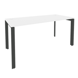 Стол на П-образном металлокаркасе Onix O.MP-SP-4.7 Дуб Аттик/Белый металл 1580x720x750 + тумба в подарок