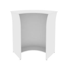 Стойка угловая (радиусный элемент - ХДФ) RIVA А.РС-5 Белый 950х950х1150