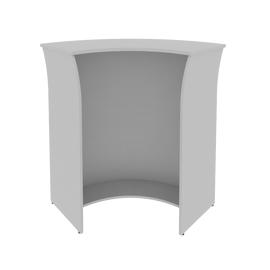 Стойка ресепшен угловая (радиусный элемент - ХДФ) RIVA А.РС-5 Серый 950х950х1150