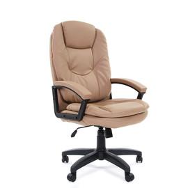 Компьютерное кресло для руководителя Chairman 668 LT Бежевая ЭКО кожа