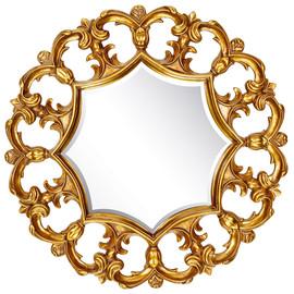 Зеркало настенное в резной раме Florian Gold (Флориан) Art-zerkalo