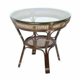 Стол обеденный из ротанга JAVA, 11-23А Б темно-коричневый Ecodesign